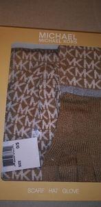 Michael Kors Hat, Glove & Scarf Set